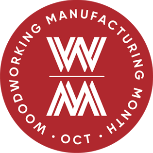 Logo for Woodworking Manufacturing Month